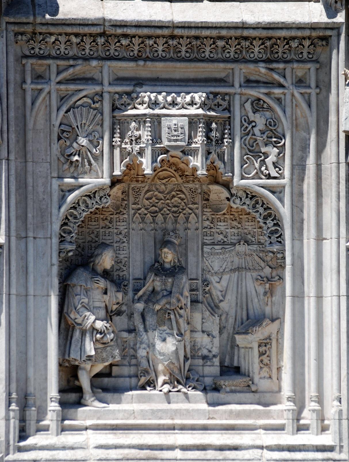 Colón ante la Reina Isabel (11). Copia